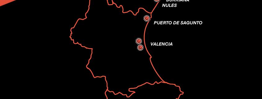 Mapa de las localizaciones en las que se encuentra Macau